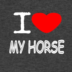 I LOVE MY HORSE - Men's V-Neck T-Shirt by Canvas