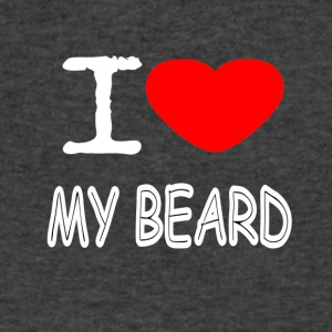 I LOVE MY BEARD - Men's V-Neck T-Shirt by Canvas