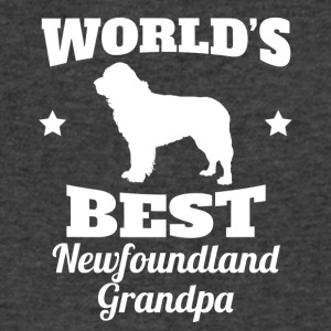 Worlds Best Newfoundland Grandpa - Men's V-Neck T-Shirt by Canvas