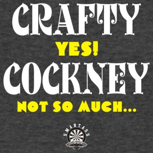 Crafty, YES! Cockney? Not so much... - Men's V-Neck T-Shirt by Canvas
