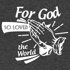 For God So Loved The World… - Alt. Design (White) - Men's V-Neck T-Shirt by Canvas