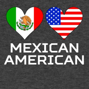 Mexican American Hearts - Men's V-Neck T-Shirt by Canvas