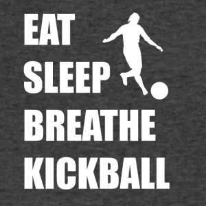 Eat Sleep Breathe Kickball - Men's V-Neck T-Shirt by Canvas