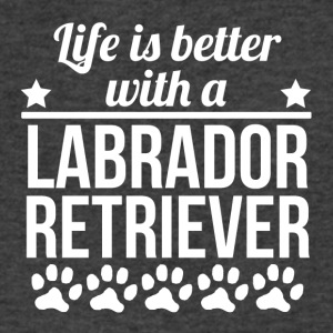 Life Is Better With A Labrador Retriever - Men's V-Neck T-Shirt by Canvas