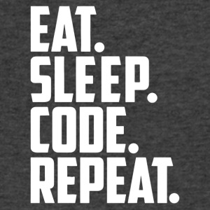 eat sleep code and repeat - Men's V-Neck T-Shirt by Canvas