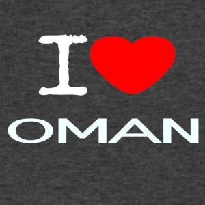 I LOVE OMAN - Men's V-Neck T-Shirt by Canvas