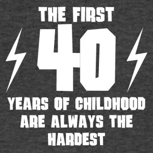 The First 40 Years Of Childhood - Men's V-Neck T-Shirt by Canvas
