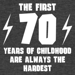 The First 70 Years Of Childhood - Men's V-Neck T-Shirt by Canvas