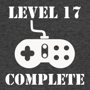 Level 17 Complete 17th Birthday - Men's V-Neck T-Shirt by Canvas