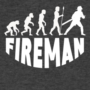 Fireman Evolution - Men's V-Neck T-Shirt by Canvas
