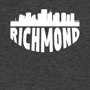 Richmond VA Cityscape Skyline - Men's V-Neck T-Shirt by Canvas