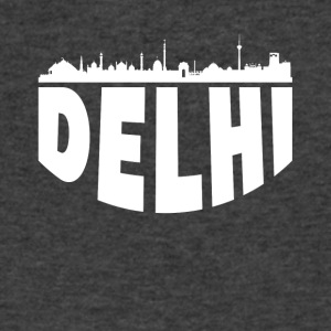 Delhi India Cityscape Skyline - Men's V-Neck T-Shirt by Canvas