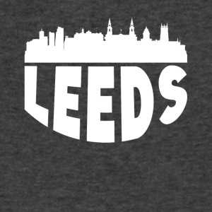 Leeds England Cityscape Skyline - Men's V-Neck T-Shirt by Canvas