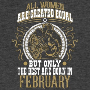The Best Women Are Born In February - Men's V-Neck T-Shirt by Canvas
