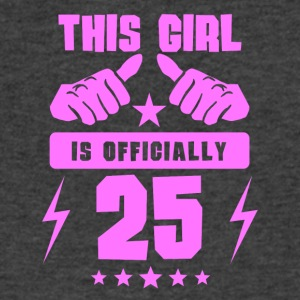 This Girl Is Officially 25 - Men's V-Neck T-Shirt by Canvas