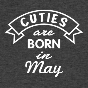 Cuties are born in May - Men's V-Neck T-Shirt by Canvas