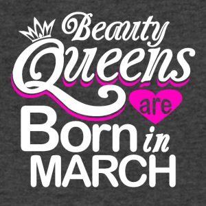 Beauty Queens Born in March - Men's V-Neck T-Shirt by Canvas