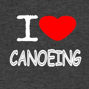 I LOVE CANOEING - Men's V-Neck T-Shirt by Canvas