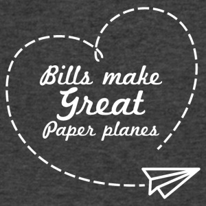 Bills make great paper planes - Men's V-Neck T-Shirt by Canvas