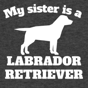 My Sister Is A Labrador Retriever - Men's V-Neck T-Shirt by Canvas