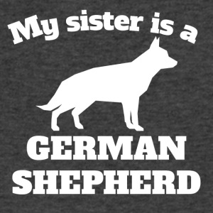 My Sister Is A German Shepherd - Men's V-Neck T-Shirt by Canvas