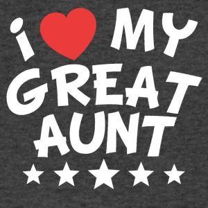 I Heart My Great Aunt - Men's V-Neck T-Shirt by Canvas