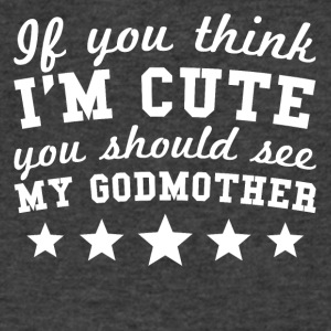If You Think I'm Cute You Should See My Godmother - Men's V-Neck T-Shirt by Canvas