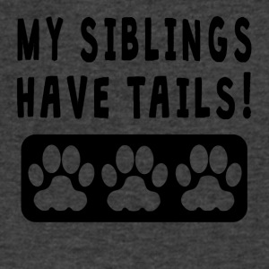My Siblings Have Tails - Men's V-Neck T-Shirt by Canvas