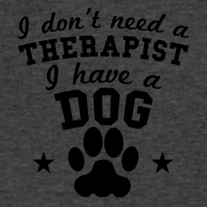 I Don't Need A Therapist I Have A Dog - Men's V-Neck T-Shirt by Canvas