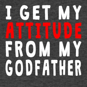 I Get My Attitude From My Godfather - Men's V-Neck T-Shirt by Canvas