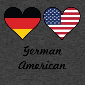 German American Flag Hearts - Men's V-Neck T-Shirt by Canvas
