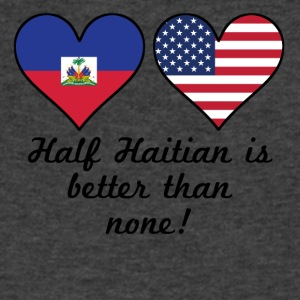 Half Haitian Is Better Than None - Men's V-Neck T-Shirt by Canvas
