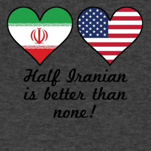 Half Iranian Is Better Than None - Men's V-Neck T-Shirt by Canvas