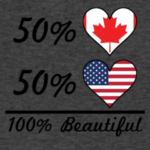 50% Canadian 50% American 100% Beautiful - Men's V-Neck T-Shirt by Canvas