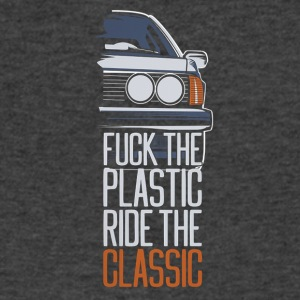 F.ck the plastic ride the classic - Men's V-Neck T-Shirt by Canvas