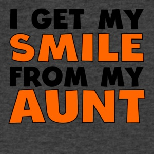 I Get My Smile From My Aunt - Men's V-Neck T-Shirt by Canvas