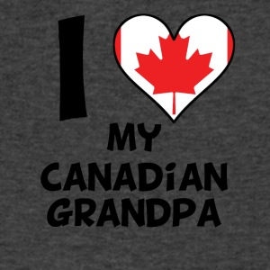 I Heart My Canadian Grandpa - Men's V-Neck T-Shirt by Canvas