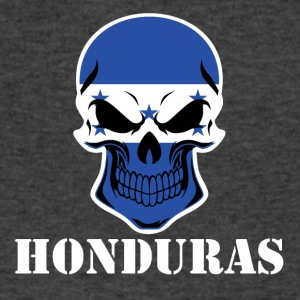 Honduran Flag Skull Honduras - Men's V-Neck T-Shirt by Canvas