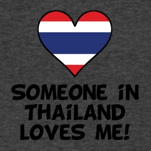 Someone In Thailand Loves Me - Men's V-Neck T-Shirt by Canvas