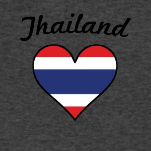 Thailand Flag Heart - Men's V-Neck T-Shirt by Canvas