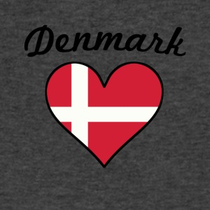 Denmark Flag Heart - Men's V-Neck T-Shirt by Canvas