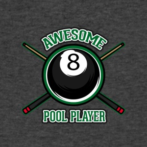 Awesome pool player - Men's V-Neck T-Shirt by Canvas