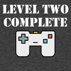 Level Two Complete Second Birthday - Men's V-Neck T-Shirt by Canvas