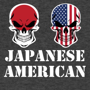 Japanese American Flag Skulls - Men's V-Neck T-Shirt by Canvas