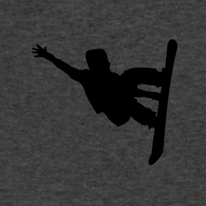 Snowboarder Silhouette Snowboarding - Men's V-Neck T-Shirt by Canvas