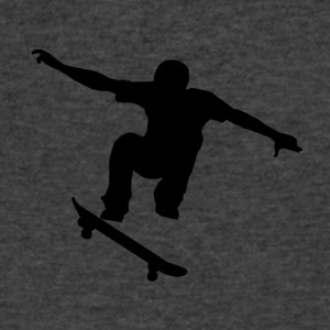 Skateboarder Silhouette - Men's V-Neck T-Shirt by Canvas