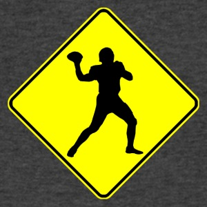Football Quarterback Crossing - Men's V-Neck T-Shirt by Canvas