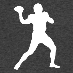 Football Quarterback Silhouette - Men's V-Neck T-Shirt by Canvas