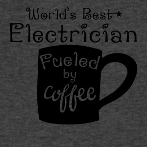 World's Best Electrician Fueled By Coffee - Men's V-Neck T-Shirt by Canvas