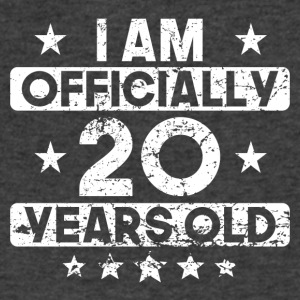 I Am Officially 20 Years Old 20th Birthday - Men's V-Neck T-Shirt by Canvas
